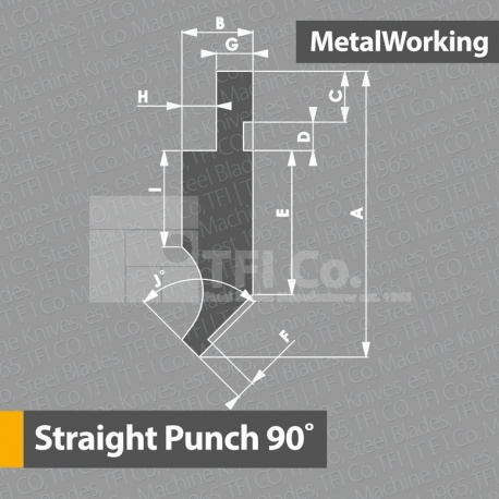 Straight Punch Silver Class 90 - TFICo  - Press brake Tools